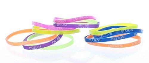 Rubber Thin Inspirational Bracelets Rubber