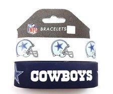 Aminco International NFL-BC-207-17 Silicone Rubber Bracelet - Dallas Cowboys