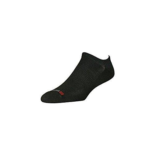 DryMax Golf Lite-Mesh No Show, Black, M 11-13, 2 Pack by Drymax