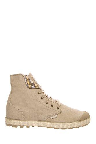 Palladium Slim Snaps - Zapatos Mujer Beige