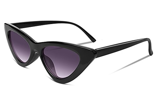 FEISEDY Small Cat Eye Design Clout Goggles Kurt Cobain Sunglasses (Womens Eye Design)