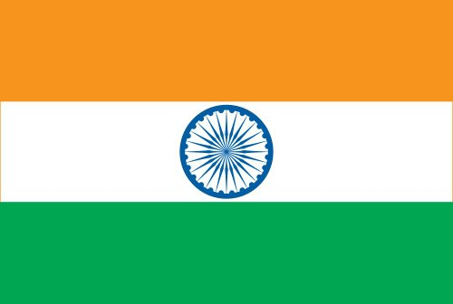 Annin Flagmakers Model 193642 India Flag 3x5 ft. Nylon Solar
