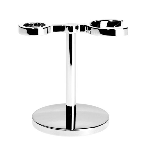 MUEHLE Stand for shaving set include chrome-plated