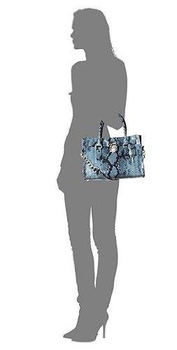 Michael Kors Hamilton Leather EW Satchel Denim Blue