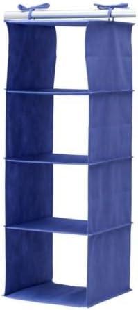 IKEA Hängeaufbewahrung JÄLL, Blau (84cm / 4 Fächer)