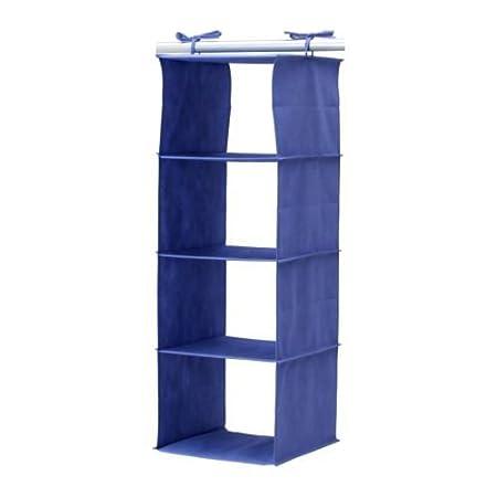 Bon Ikea Jäll Hanging Storage Unit 84 Cm 4 Compartments Blue