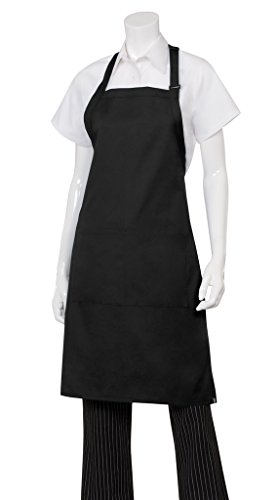 Chef Works Mens Butcher Apron, Black, 34-Inch Length by 24-Inch Width