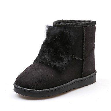 Round Pelle Novità Comfort Fashion Fodera Lanugine UK4 In Da Stivaletti Tacco RTRY Nubuck Donna Scarpe Toe Stivali Boots Stivali Piatto Caviglia Inverno EU36 CN36 Snow Autunno US6 znqHvIvPpW