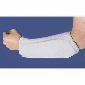 Pair of 2 White Adult Small Football Forearm Guard Pads (Markwort Arm Pads)