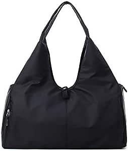 UIYTR Yoga Mat Gym Bag Fitness Bags for Women Men Training Sac De Sport Travel Gymtas Nylon Outdoor Travel Sports Carry On Gym Bag (Black)