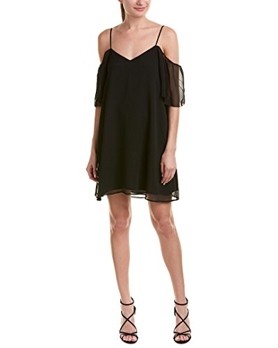 French Connection Women's Constance Drape Dress, Black, S by French Connection