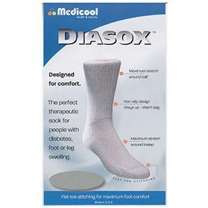 Diabetic Seamfree Socks (Diasox Seam-Free Diabetes Socks Large, White (1 Pair))