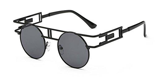 inspirées de rond du cercle en style lunettes retro polarisées Lennon Grise B vintage soleil métallique Feuille qpaSwUt