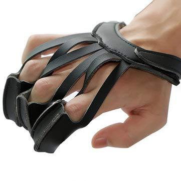 Finger Protection Gloves - Black Finger Gloves - 3 Finger Fishing Protect Leather Glove Outdoor Archery Shooting Fishing Finger Protector (Fishing Finger Glove)
