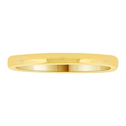 14k Yellow Gold, Classic Plain Polished Band Ring 2mm Wide Size 13 by GiveMeGold