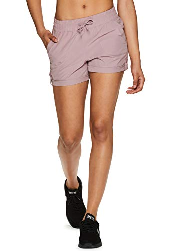 RBX Active Women's Stretch Woven Athletic Walking Short with Pockets S-19 Pink XL