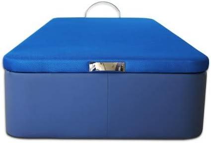 Canap/é Abatible Serena Gran Capacidad Tapizado en Polipiel Azul Medidas 80 x 180 cm en Tejido 3D Ventadecolchones
