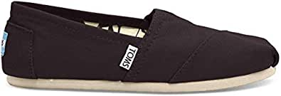 TOMS Women's Canvas Slip-On,Black,5 M