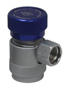 Mastercool 82934-SL Blue/Silver 14mm-F x 13mm Low-Side Manual R134a Safety Lock ()