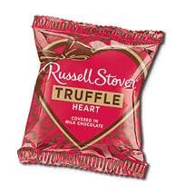 Russell Stover Milk Chocolate Truffle Hearts (Pack of 18)
