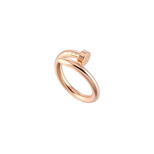- Women/Men Adjustable Wrapped Bent Nail Rose Gold Plated Ring