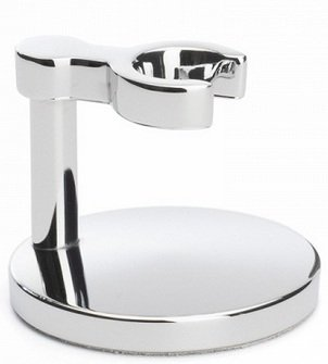 MUEHLE Stand for classic safety razor with chrome-plated