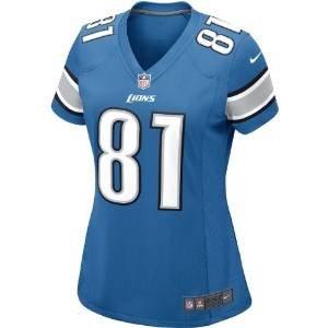 NIKE Women's Detroit Lions Calvin Johnson Game Team Color Jersey - Size: Medium, Battle Blue