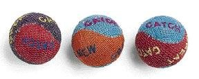 Ethical Burlap Balls Cat Toys Assorted Colors, 3-Pack, My Pet Supplies