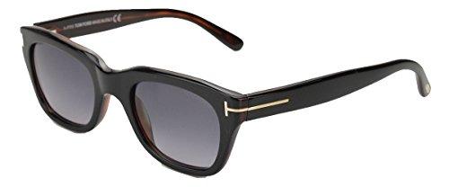 Tom Ford Snowdon New Sunglasses (50 mm, Shiny Black Frame Gradient Blue Lens)