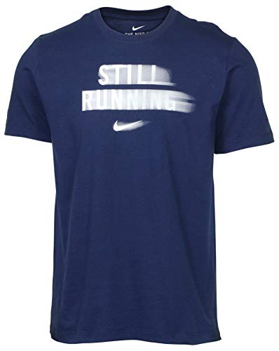 Nike Men's Still Running Graphic Tee (X-Large, Navy)