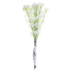 TiaoBug Baby Breath/Gypsophila Wedding Decoration White Colour Artificial Flowers,12 pieces 2