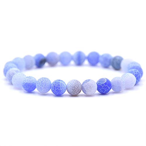 CUTEDAY Natural Colorsizeed Weathered Stone Beads Bracelet Men Bracelets & Bangles for Women Jewelry 5 from CUTEDAY