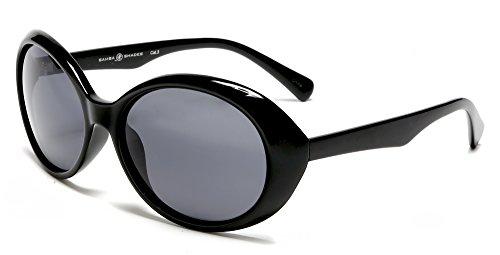 Samba Shades Retro Audrey Hepburn Style Polarized Sunglasses Black