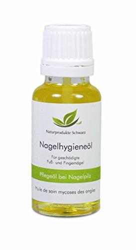 Naturprodukte Schwarz - Nagelpilz Öl - Pflegeöl zur Nagelhygiene gegen Nagelpilz, 20ml