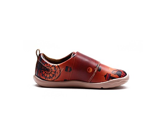 UIN La fête au jardin Chaussures de cuir comfortable marron pour enfant (adolescent)