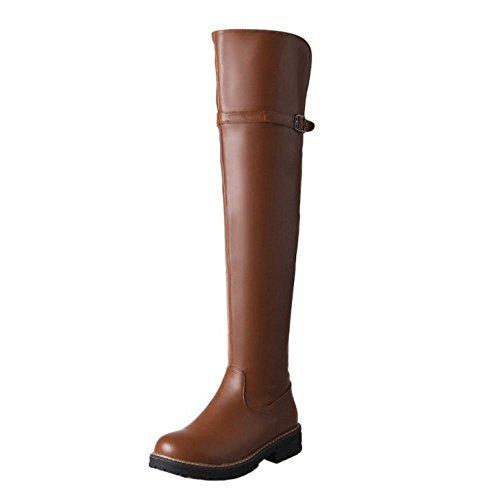 Brown Fashion 1 Boots Coolcept Knee Women wgApO
