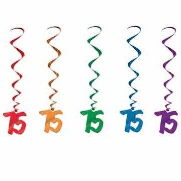 75th Birthday Hanging Whirls