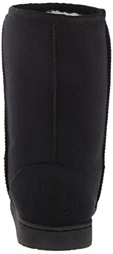 Black Shearling Winter Vegan Microfiber Boots Faux Inch DAWGS Womens 9 wICzW6q