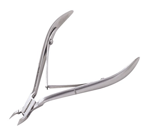 Tweezerman Stainless Steel Rockhard Cuticle Nipper (1/2 Jaw)