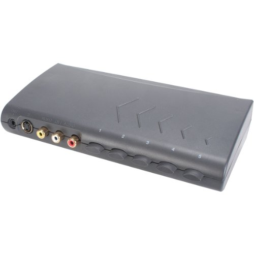 (Parts Express S-Video Audio and Composite Video Selector Switch 5-in 2-Out )