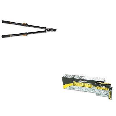 KITEVEEN91FSK91686935J - Value Kit - Fiskars Telescoping Power-Lever Bypass Lopper (FSK91686935J) and Energizer Industrial Alkaline Batteries (EVEEN91)