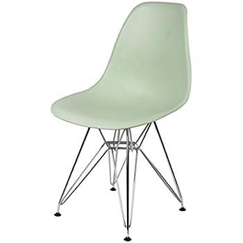 Amazon Com Gia Eames Plastic Armless Chair With Metal