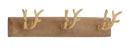 (Deco 79 68992 Deer Antler-Inspired Wall Hook Rack, 24