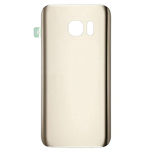 Gold Housing Cover - Walking Slow-NO LOGO Back Glass Replacement for Samsung Galaxy S7 G930(All Carriers) Rear Cover Glass Panel Battery Door Housing with Adhesive Preinstalled Repair Part (Gold)