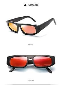 ZMP Box Sunglasses UV Protection Sunglasses Sports Sunglasses UV400 Sunglasses (Color : Orange)