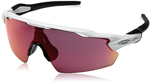 Oakley Men's OO9211 Radar EV Pitch Shield Sunglasses, Polished White/Prizm Field, 38 ()