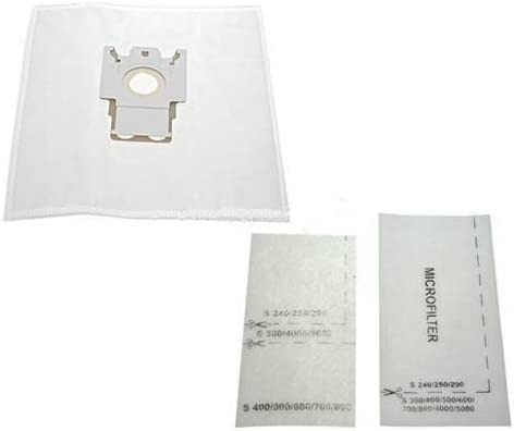 Miele FJM bolsas para aspiradora y filtros – de microfibra bolsas con bolsa de cartón marco – filtros de escape para S250 S300 Series S500 serie y S700 Series gato y perro: