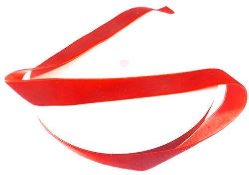 1 Inch Red Velvet Ribbon. Huge 25 Yards Roll.Single Face Spool by Drency ()
