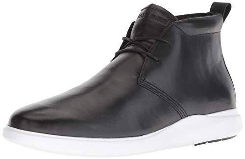 Cole Haan Men's Grnd Plus Essex WEDGECHUKKA Chukka Boot Black/Optic White 11 M US