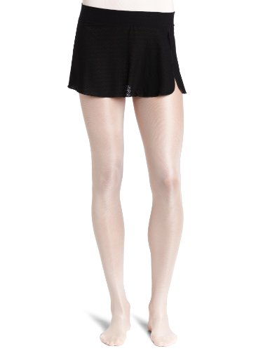 Danskin Women's Sheer Wrap Skirt, Black, (Mini Petite Skirt)